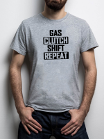 Tričko s motivem Gas Clutch Shift