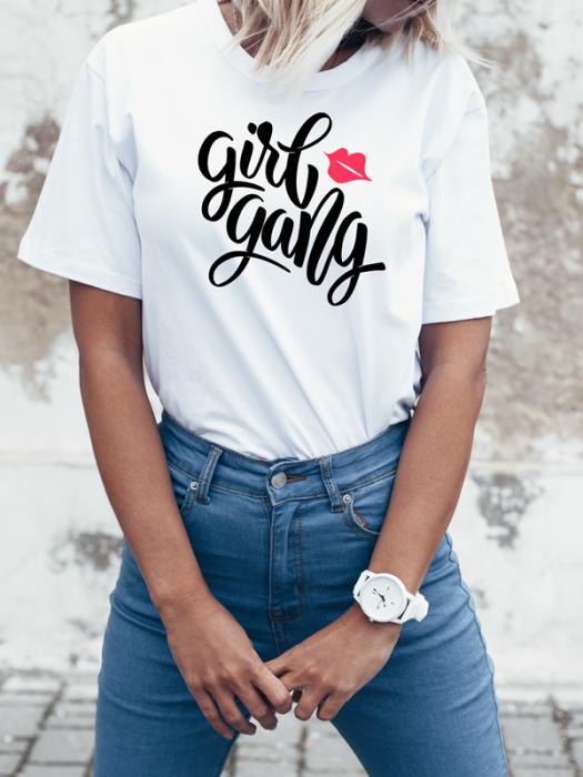 Tričko s motivem Girl Gang
