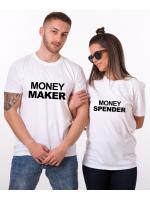 Tričko Money Maker & Money Spender pro páry